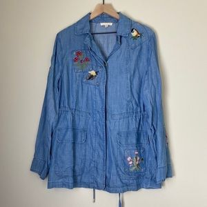 Anthropologie Current Air Embroidered Jacket sz S